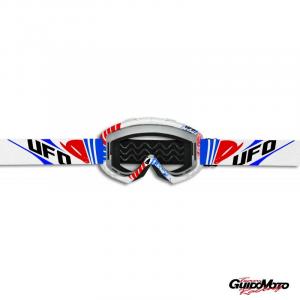 OCCHIALI UFO BULLET BIANCHI MOTO CROSS ENDURO MOTARD OC02181#C