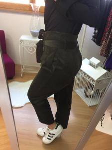 Pantalone velluto vita alta