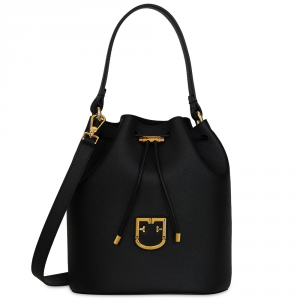 Hand and shoulder bag Furla FURLA CORONA 1007824 ONYX