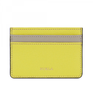 Credits card holder Furla BABYLON 1006898 LIME f+SABBIA b