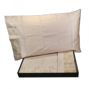 Set lenzuola matrimoniale Trussardi WIND 270x290 corda raso di puro cotone