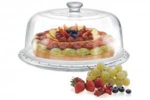 Piatto Torta con Campana in vetro cm.15,5h diam.31