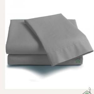 Lenzuola Matrimoniale cotone con angoli ISTAR Maxi grande - grigio perla