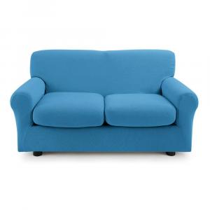 Copridivano 2 posti con 2 cuscini Zucchi Copri divano ZAPPING bluette 3392