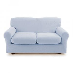 Copridivano 2 posti con 2 cuscini Zucchi Copri divano ZAPPING grigio celestiale