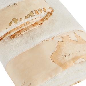Alviero Martini Handtuchset - handtuch und Gästetuch LUX Beige