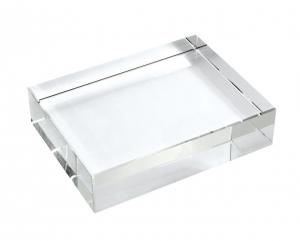 Fermacarte rettangolare cristallo cm.10x16x3h