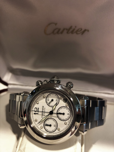 Orologio secondo polso Cartier Pasha Chronograph