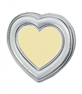Cornice in argento cuore misura esterna 8 x 8 cm cm.5x5h