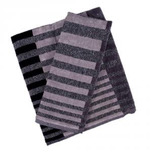 Coppia di asciugamani set 1+1 in spugna Carrara NEBRASKA grigio