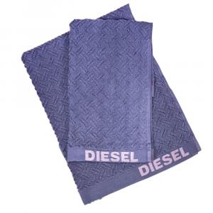 Coppia di asciugamani set 1+1 in spugna Diesel stage blu indigo