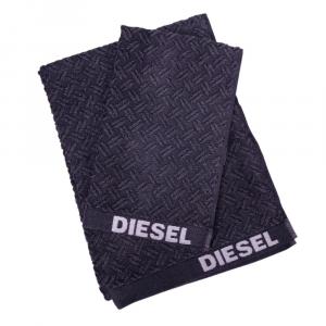 Coppia di asciugamani set 1+1 in spugna Diesel stage grigio