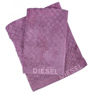 Coppia di asciugamani set 1+1 in spugna Diesel Stage malva