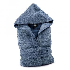 Diesel terry hooded bathrobe STAGE blue