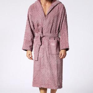 Diesel terry hooded bathrobe STAGE pink