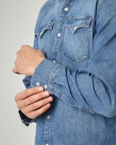 Camicia in Jeans modello western