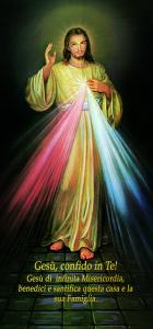 Gesù Misericordioso con dettagli oro 10x21,5 (100 pz)