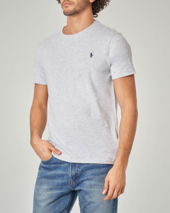 T-shirt grigio melange con logo blu