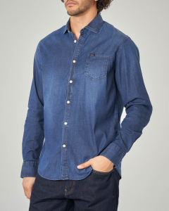 Camicia in chambray con taschino