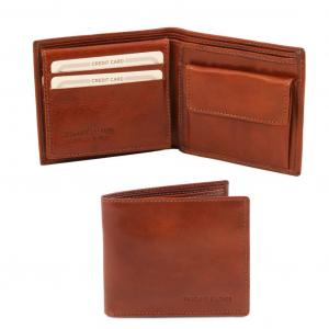 Tuscany Leather TL141377 Esclusivo portafoglio uomo in pelle 3 ante Marrone