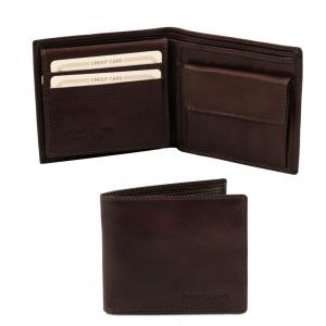 Tuscany Leather TL141377 Esclusivo portafoglio uomo in pelle 3 ante Testa di Moro