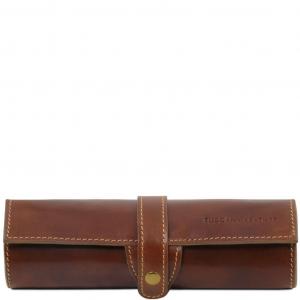 Tuscany Leather TL141620 Esclusivo porta penne in pelle Marrone