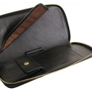 Tuscany Leather TL141663 Esclusivo portadocumenti da viaggio in pelle Nero