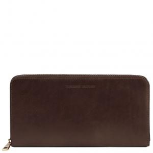 Tuscany Leather TL141663 Esclusivo portadocumenti da viaggio in pelle Testa di Moro