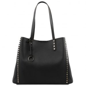 Tuscany Leather TL141735 TL Bag - Soft leather shopping bag Black