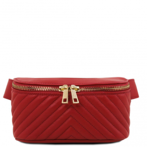 Tuscany Leather TL141741 TL Bag - Soft leather fanny pack Red