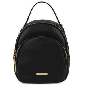 Tuscany Leather TL141743 TL Bag - Leather backpack for women Black