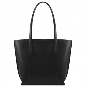 Tuscany Leather TL141790 Nemesi - Borsa shopping in pelle Nero