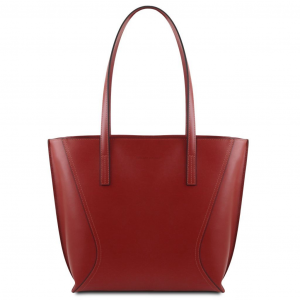 Tuscany Leather TL141790 Nemesi - Leather shopping bag Red