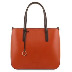 Tuscany Leather TL141791 Penelope - Leather tote Brandy