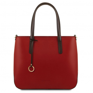 Tuscany Leather TL141791 Penelope - Borsa shopping in pelle Rosso