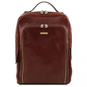 Tuscany Leather TL141793 Bangkok - Zaino porta notebook in pelle Marrone
