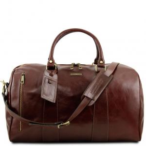 Tuscany Leather TL141794 TL Voyager - Borsa da viaggio in pelle - Misura grande Marrone