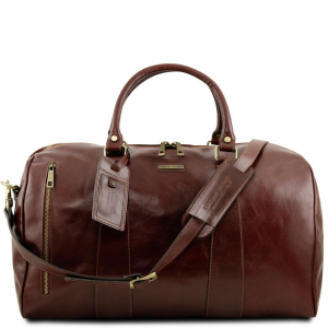 Tuscany Leather TL141794 TL Voyager - Travel leather duffle bag - Large size Brown
