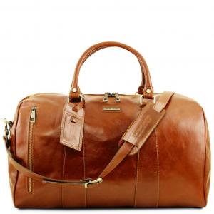 Tuscany Leather TL141794 TL Voyager - Borsa da viaggio in pelle - Misura grande Miele