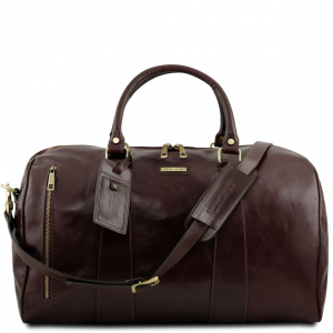 Tuscany Leather TL141794 TL Voyager - Travel leather duffle bag - Large size Dark Brown