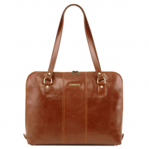 Tuscany Leather TL141795 Ravenna - Exclusive lady business bag Honey
