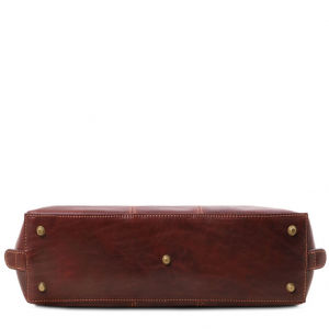 Tuscany Leather TL141795 Ravenna - Esclusiva borsa business per donna Rosso