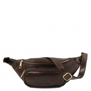Tuscany Leather TL141797 Leather fanny pack Dark Brown