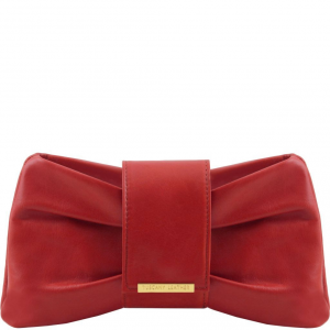 Tuscany Leather TL141801 Priscilla - Clutch leather handbag Red