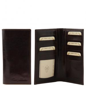 Tuscany Leather TL140784 Esclusivo portafoglio verticale in pelle 2 ante Testa di Moro