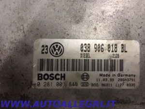 ECU CENTRALINA MOTORE VW GOLF BOSCH 0281001845 0 281 001 845