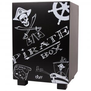 Cassa da battere Beatbox mod pirata in legno Strumento Musicale per bambini