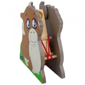 Catapulta a forma di Scimmia gioco in legno bambini