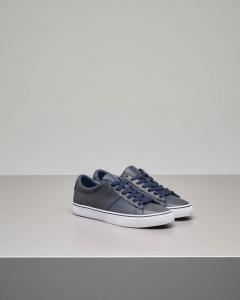 Sneakers Sayer blu in pelle