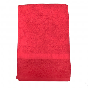 Telo da bagno tinta unita Rosso 020 COGAL 100x150 cm SERENITY